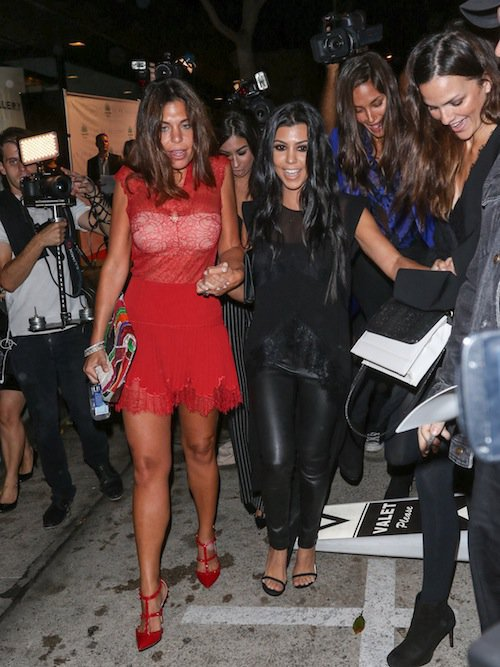 Photos : Kourtney Kardashian : en cuir, elle se dévergonde !