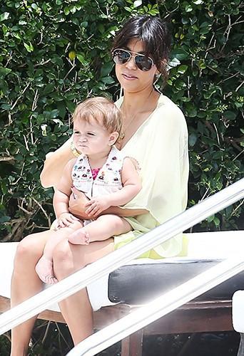 Kourtney Kardashian et sa tribu à Miami le 20 juillet 2013