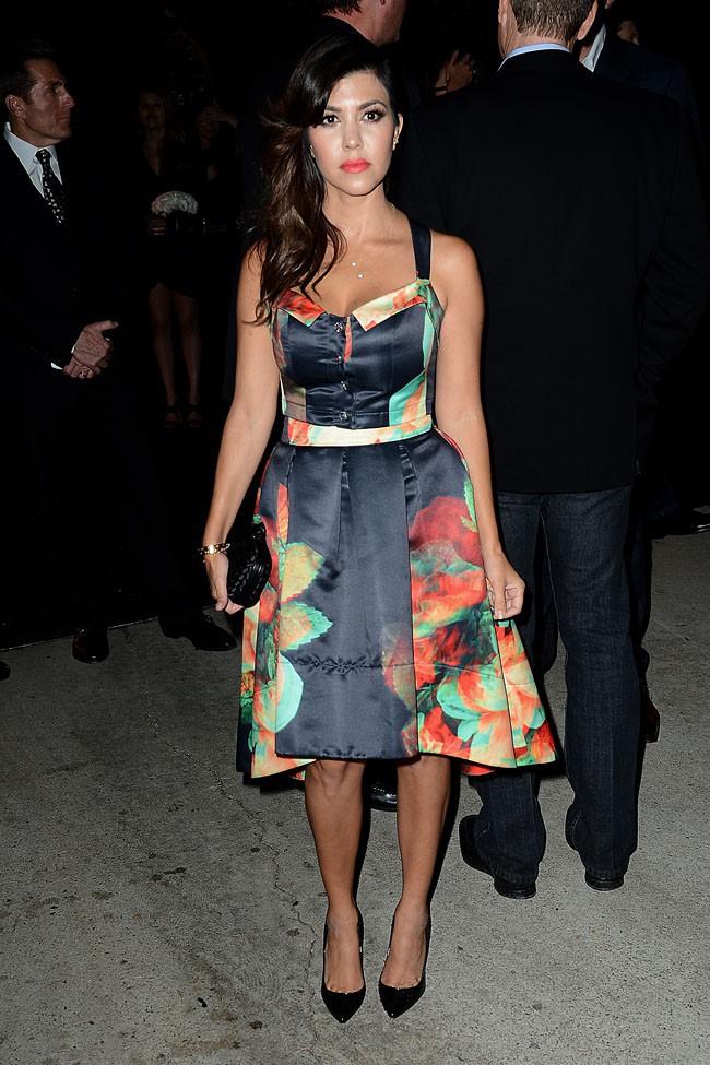 Kourtney Kardashian à la soirée pre Emmy Awards organisée à Beverly Hills le 20 septembre 2013
