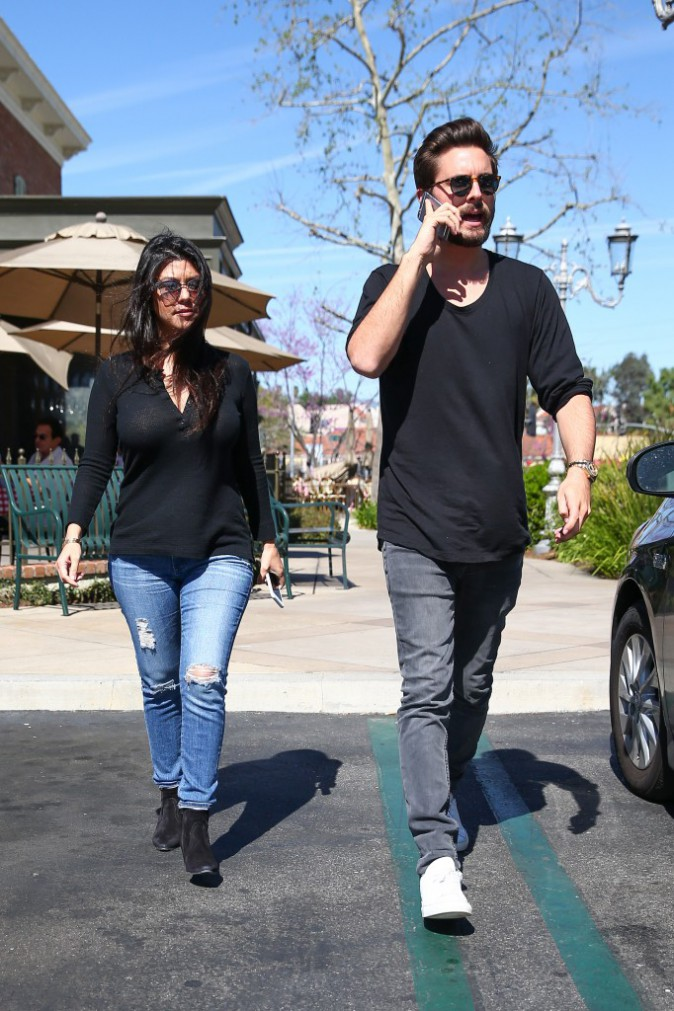 Kourtney Kardashian et Scott Disick le 12 mars 2015