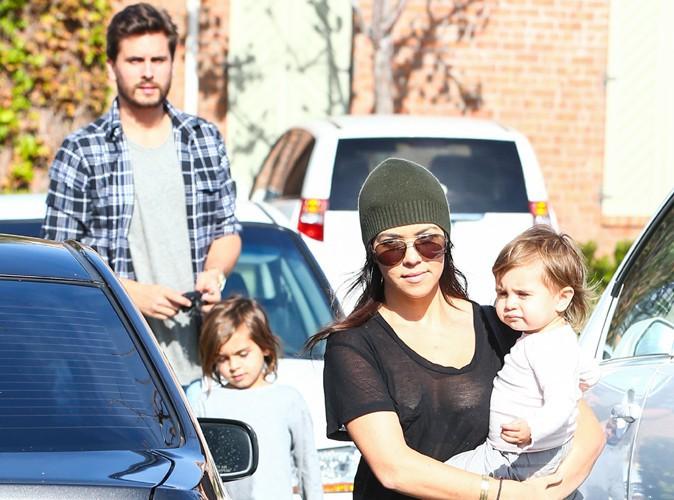Kourtney Kardashian et Scott Disick en famille à Calabasas le 11 janvier 2013