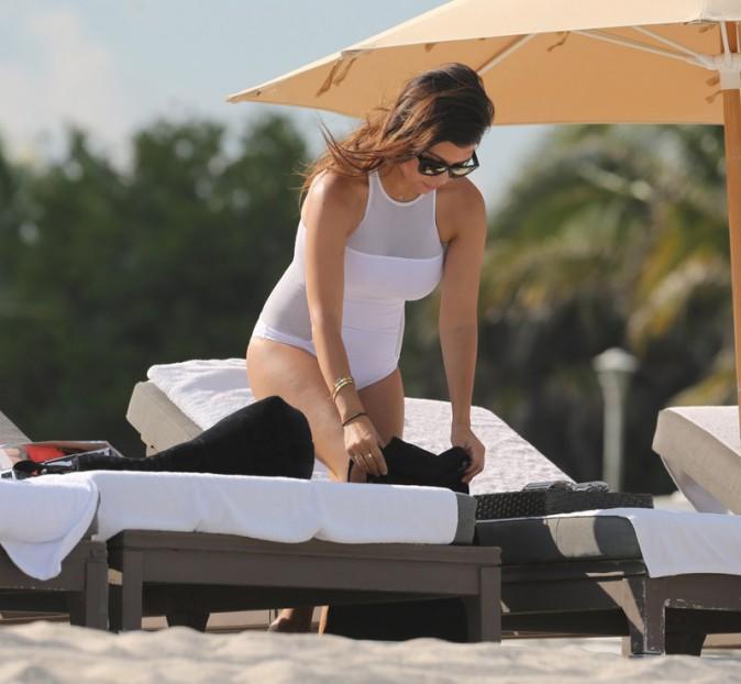 Kourtney Kardashian et Scott Disick à Miami Beach le 27 septembre 2013