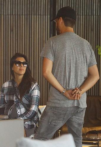 Kourtney Kardashian et Scott Disick à Los Angeles le 26 septembre 2014