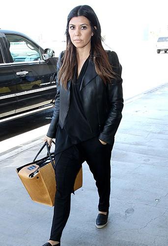 Kourtney Kardashian à l'aéroport de Los Angeles le 10 mai 2014