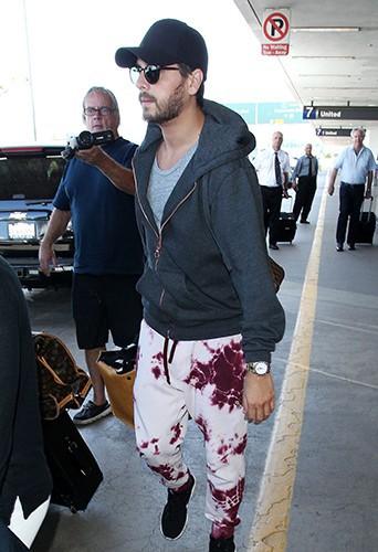 Scott Disick à l'aéroport de Los Angeles le 11 mai 2014