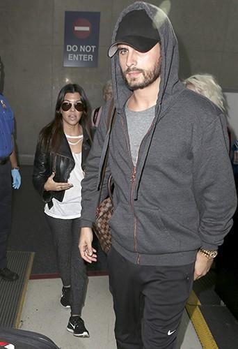 Kourtney Kardashian et Scott Disick à Los Angeles le 3 décembre 2013