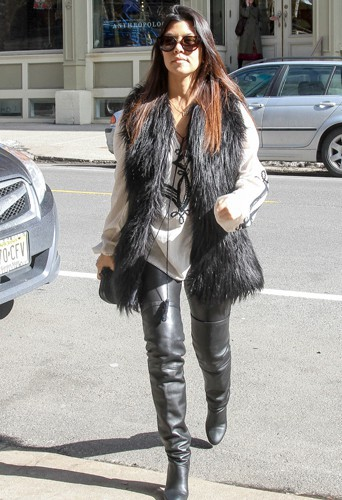 Kourtney Kardashian à New-York le 24 février 2014