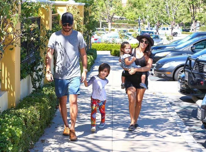 Kourtney Kardashian en famille à Los Angeles le 21 septembre 2014