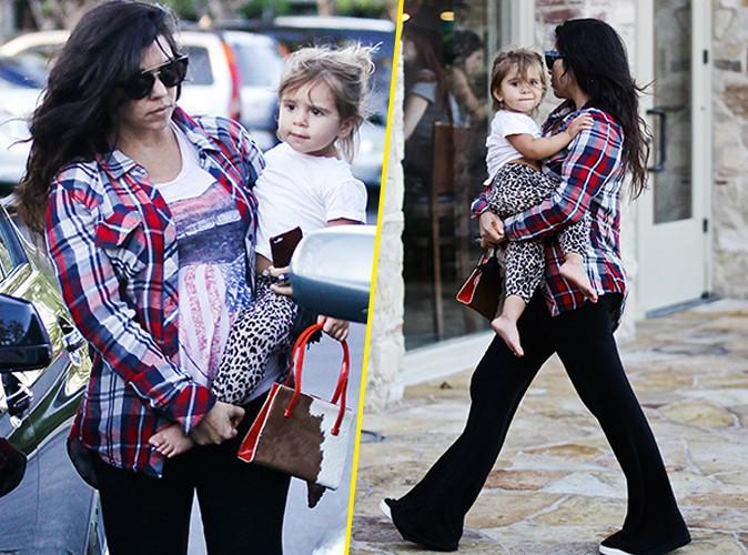 Photos : Kourtney Kardashian : maman enceinte au naturel pour un tête-à-tête avec l'adorable Penelope !