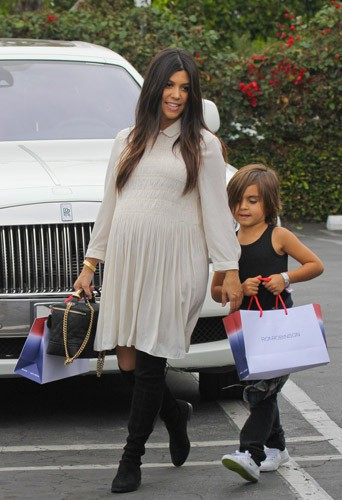 Photos : Kourtney Kardashian : Mason, un futur grand-frère surexcité !