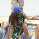 Kourtney Kardashian et Scott Disick en tournage à Miami le 25 septembre 2012