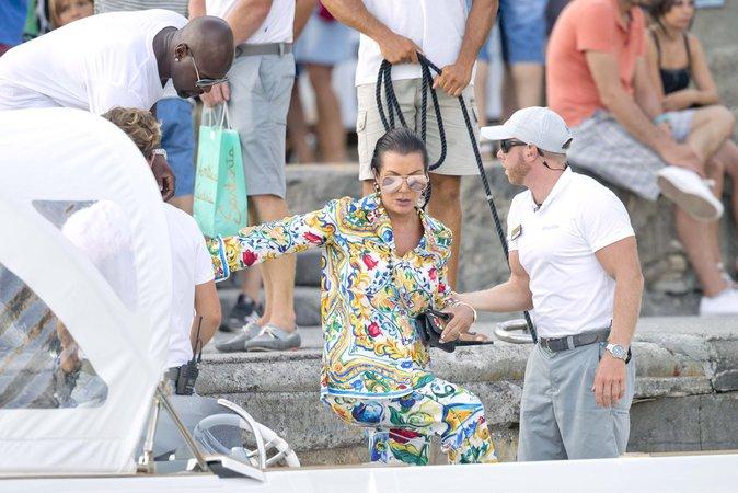 Kris Jenner à Positano (Italie) le 3 septembre 2016