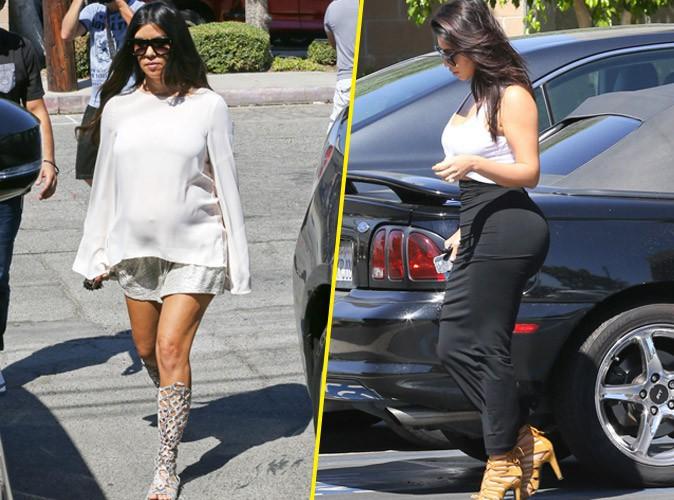 Photos : Kourtney Kardashian : sortie entre sœurs pour fêter l'arrivée d'une baby girl ?