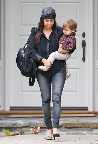 Kourtney Kardashian et Penelope à Los Angeles le 20 novembre 2013