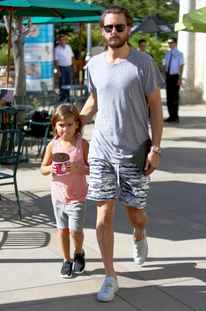 Scott Disick et Mason, le 5 août 2015