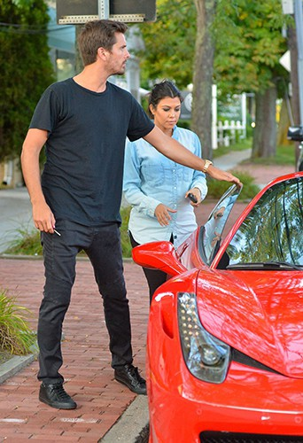 Kourtney Kardashian et Scott Disick à Water Mill le 10 août 2014