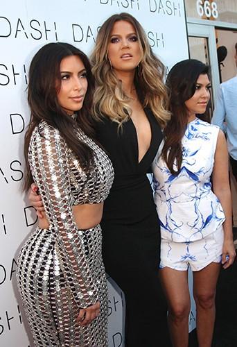 Kim, Khloé et Kourtney Kardashian à Miami le 12 mars 2014