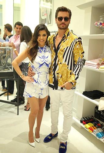 Kourtney Kardashian et Scott Disick à Miami le 12 mars 2014