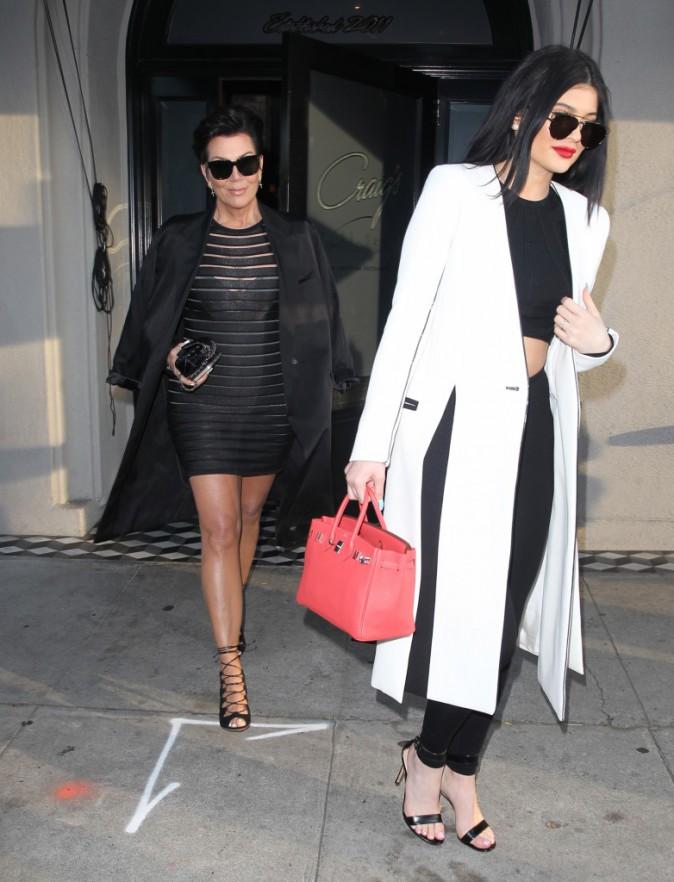Kris et Kylie Jenner le 7 juillet 2015