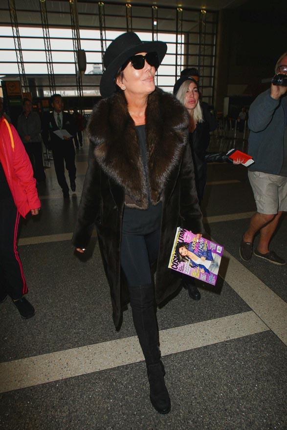 Kris Jenner à l'aéroport de LAX le 20 janvier 2014