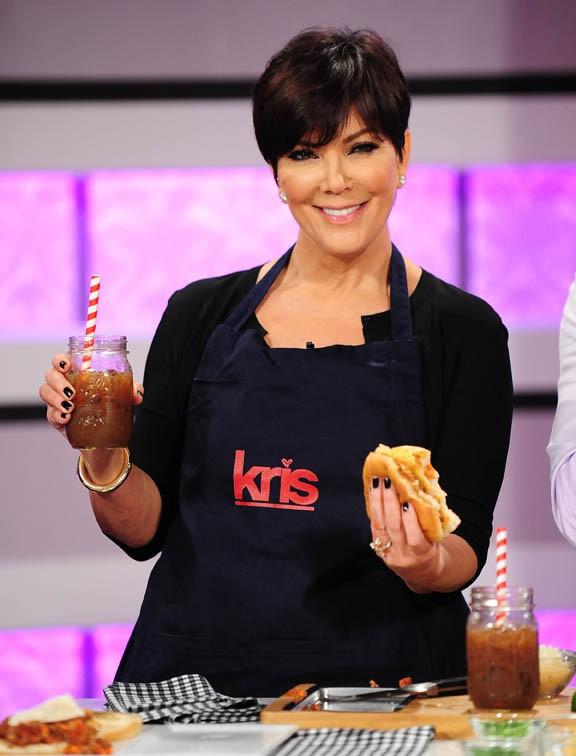Kris Jenner sur le plateau de son talk show le 15 juillet 2013