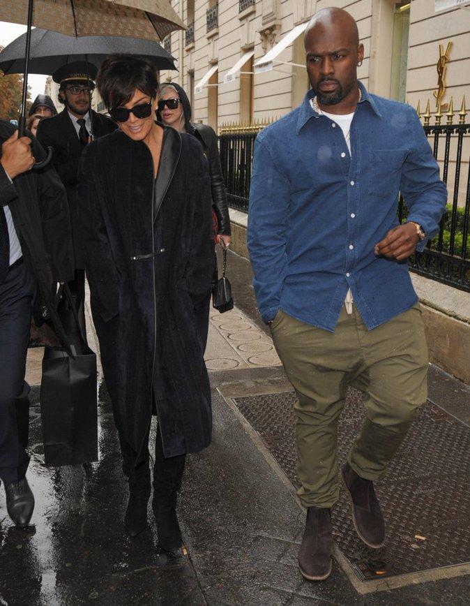 Kris Jenner et Corey Gamble à Paris le 5 octobre 2015