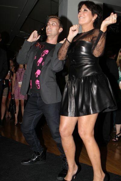 Kris Jenner et Lance Bass à New York, le 11 septembre 2012.