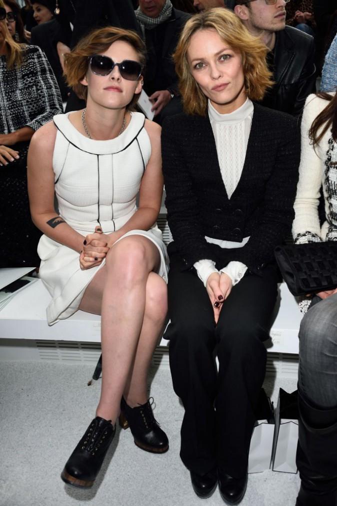 Kristen Stewart et Vanessa Paradis au défilé Chanel