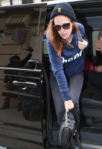 Kristen Stewart à Paris le 4 février 2014