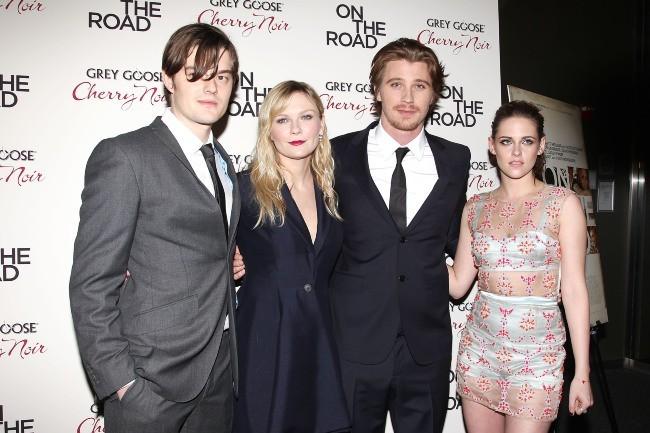 Sam Riley, Kirsten Dunst, Garrett Hedlund et Kristen Stewart en promo à New York, le 13 décembre 2012.