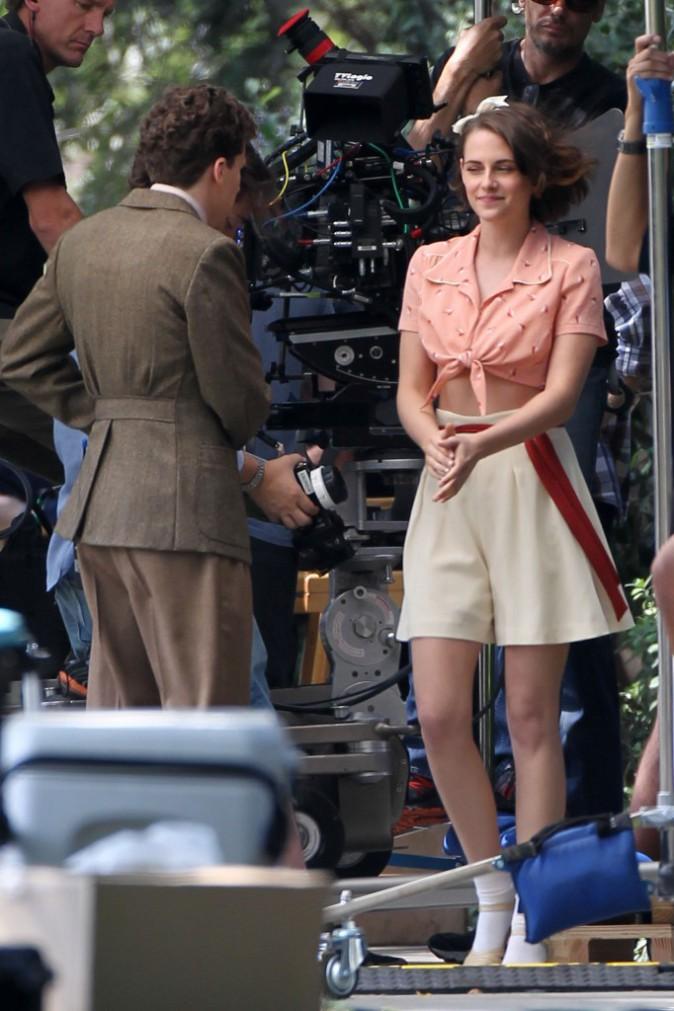 Kristen Stewart sur le tournage du film du nouveau Woody Allen, le 22 août 2015
