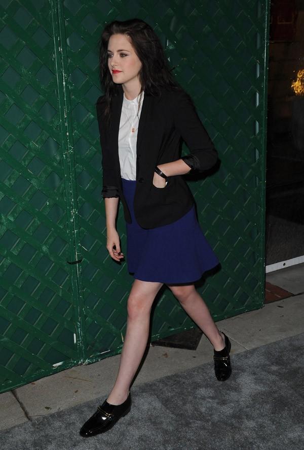 Kristen Stewart arrive à la soirée Paul McCartney