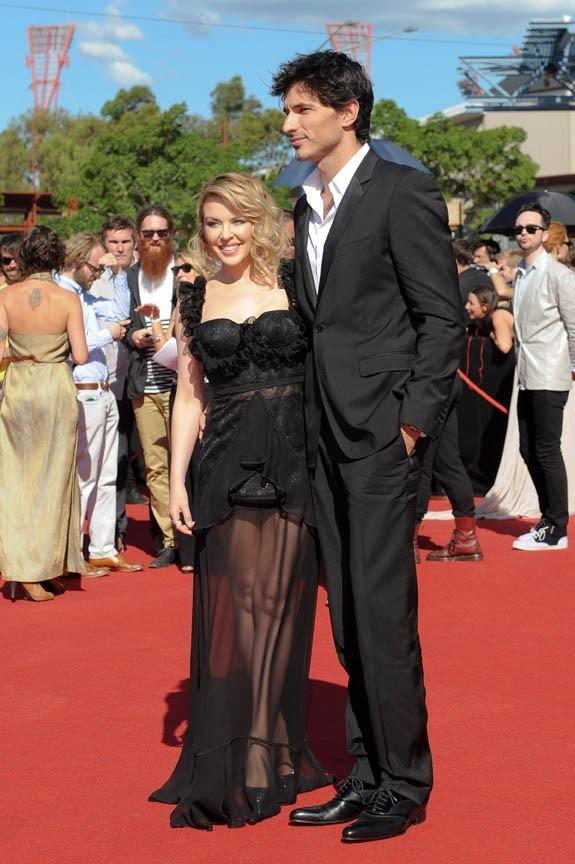 Kylie Minogue et Andres aujourd'hui à Sydney !