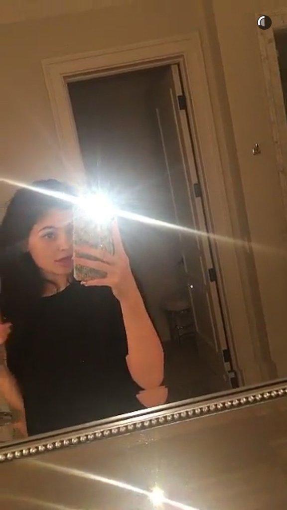 Kylie Jenner après avoir retiré ses extensions
