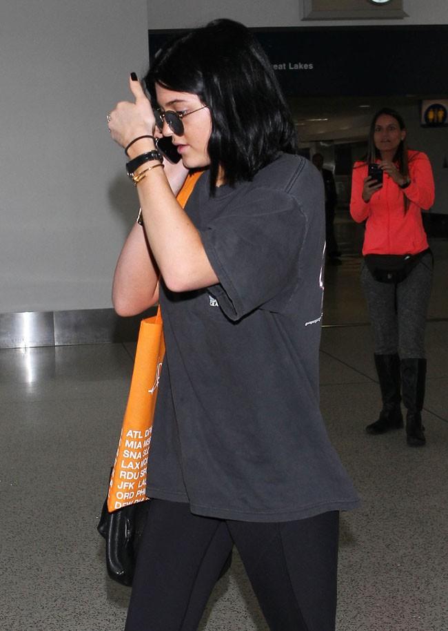 Kylie Jenner à l'aéroport de Los Angeles le 1er juillet 2014
