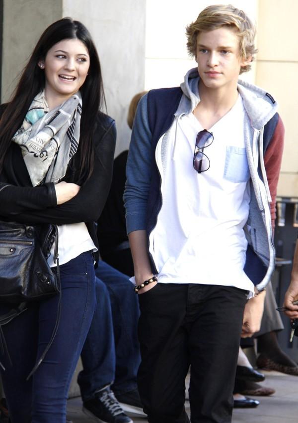 Kylie Jenner et Cody Simpson hier à Los Angeles