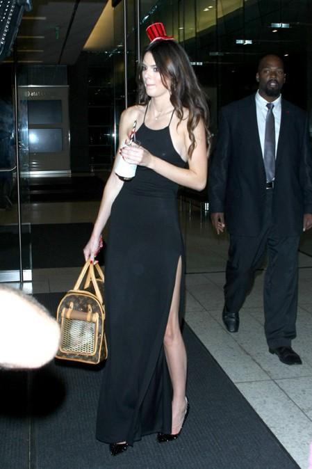 Kendall Jenner à la fête d'anniversaire de Kylie organisée à Los Angeles le 17 août 2013