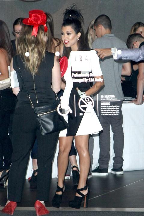 Kourtney Kardashian à la fête d'anniversaire de Kylie organisée à Los Angeles le 17 août 2013