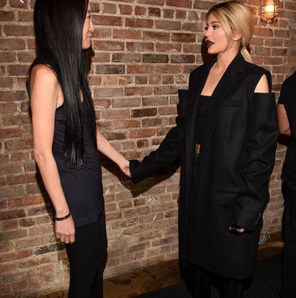 Kylie Jenner et Vera Wang à New York le 15 septembre 2015