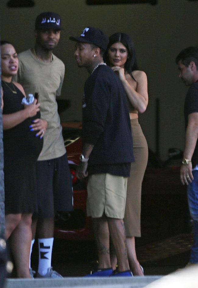 Kylie Jenner et Tyga à Los Angeles le 13 octobre 2015