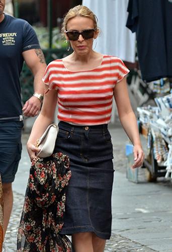 Kylie Minogue à Portofino le 24 juillet 2013