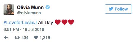 Olivia Munn soutient Leslie Jones sur Twitter