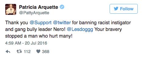 Patricia Arquette soutient Leslie Jones sur Twitter