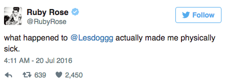 Ruby Rose soutient Leslie Jones sur Twitter