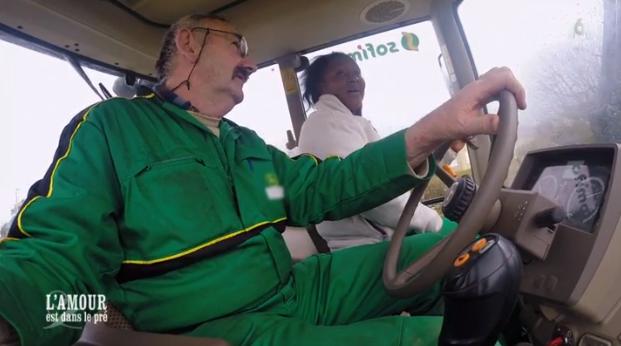 Balade en tracteur pour Paulo et sa chère Céline