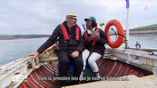 Pas très rassuré Paulo le Breton dans un bateau !