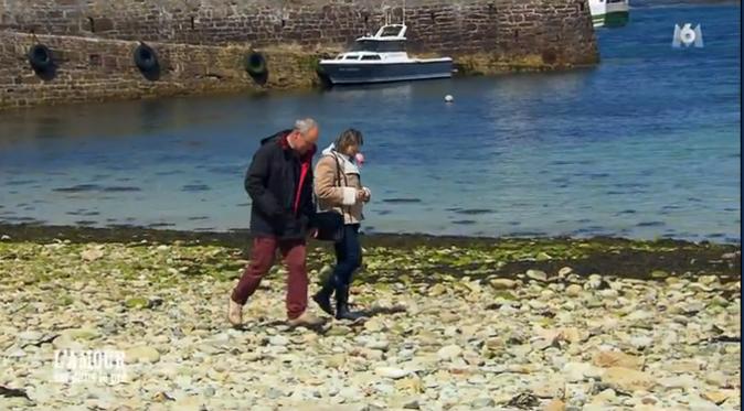 Balade sur la plage pour Marianne et Yves
