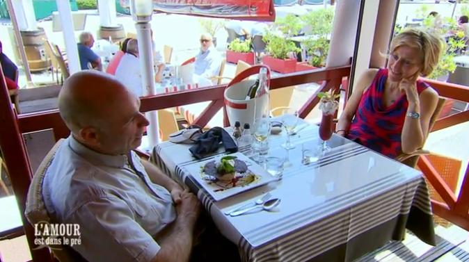 Didier et Nathalie, après un déjeuner placé sous le signe du rire...