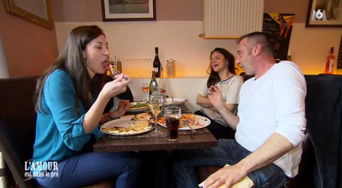 Première soirée : un dîner avec deux copines de Laetitia !