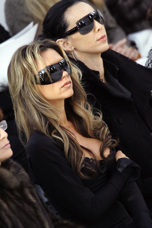En 2006 au défilé Chanel par Karl Lagerfeld avec Victoria Beckham